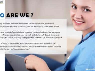 Recruitment portal - content + template