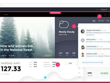 Redesign of homepage