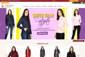 Lakshita - Ecommerce Website for Leading Women Ethinc Brand
