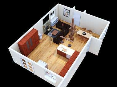 Render axonometric view