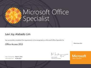 Certified Microsoft Office Specialist - Access 2013