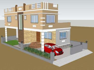 3D modelling of a house