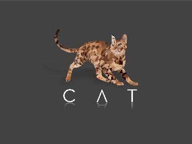 Polygon Design Cat