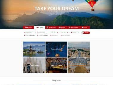 Tour & Travel website design