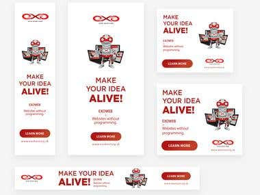 Google AdWords Advertisements Banners Design in 5 formats
