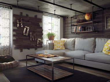 Modern Interior - Industrial Dwelling