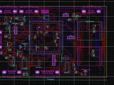 PCB design of the data handling unit.
