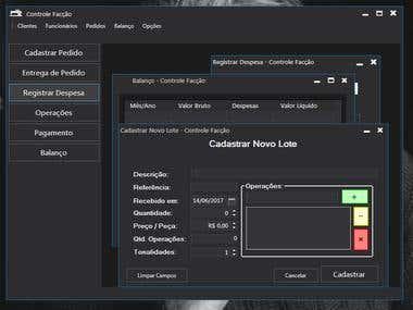 Software for a brazilian Textile Factory (C# .NET)