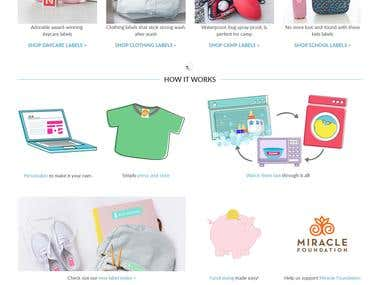 Kids Clothing Shop Website