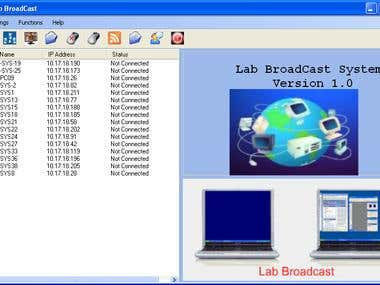 LAB BROADCAST APLLICATION
