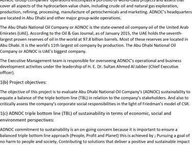 Contemporary Management Issues- Abu Dhabi National Oil Coy.