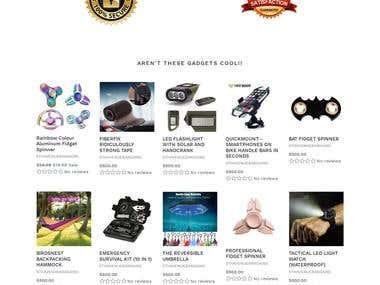 Shopify store configuration