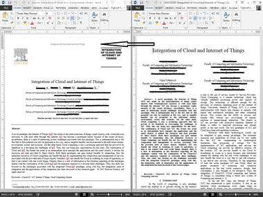Format document to meet Elsevier document style