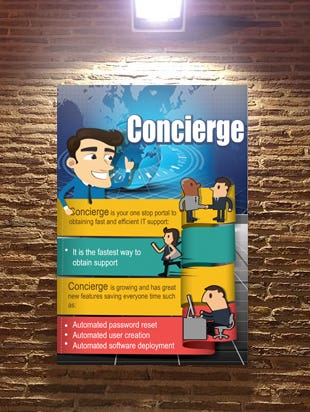 Concierge Poster design
