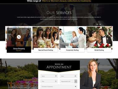 Dream Makeover website Design