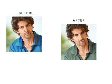photoshop changing colours