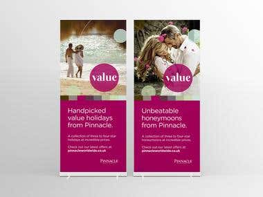 Pinnacle Worldwide - 'Value' Pop-Up Banners