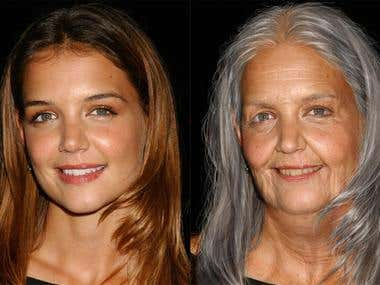 Age Progression – Photoshop
