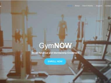 GYM NOW FITNESS Website Developed
