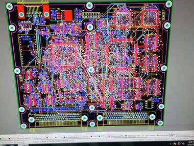 PCB design of the data handling unit
