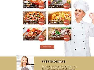 Responsive Wordpress Site for Restaurant