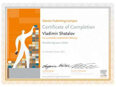 Elsevier Publishing Campus Certificates