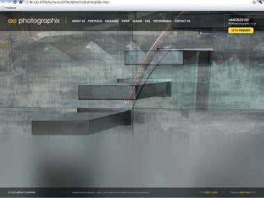 HTML/CSS code for AEPHOTOGRAPHIX with re-sizing .swf BG