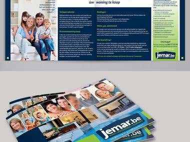 Brochure to represent real estate agency