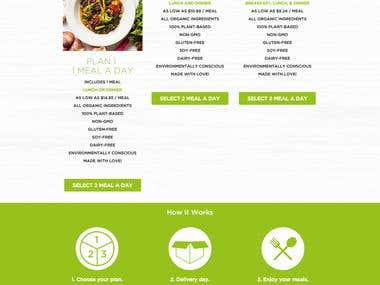 Gourmet website mockup