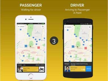 Uber and Taxi Near Android and iPhone app