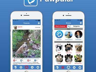 Pawpular App (iphone/android/web/backend)