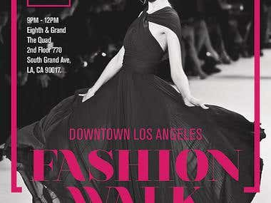 Flyer for Fashion week