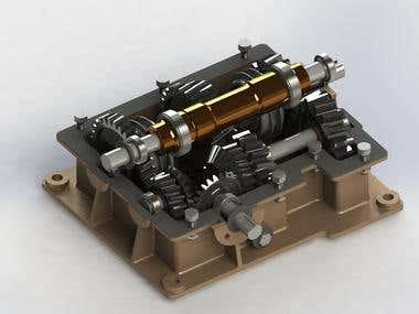 Gear box 3D design