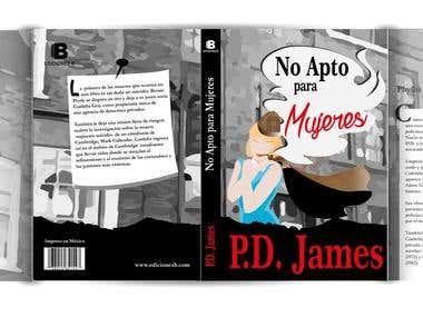Cubierta de libro para novela / Cover of book, for novel.