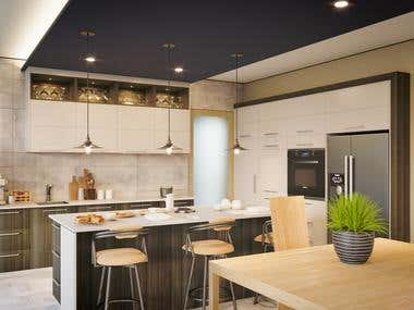 Photo Realistic Kitchen Interior