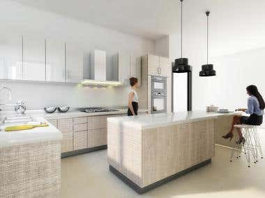 Render kitchen for mexico