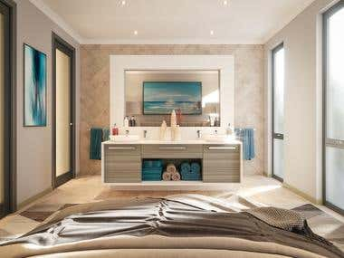 Photo Realistic Ensuite Interior