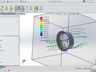 FEA and flow simulation in propeller