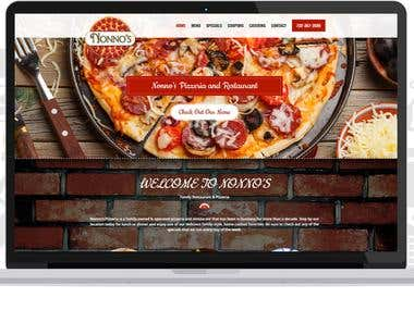 Web Design for Nonno's Pizzeria