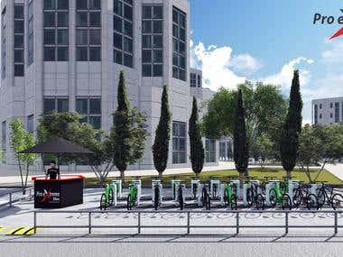 3D design for bike rental station