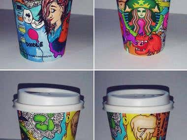 redesign of Starbucks cups