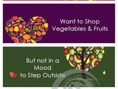 Flyer design for a Fruit Selling Website