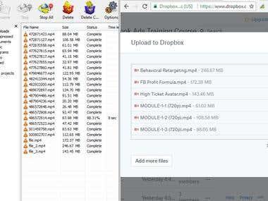 Video Downloading / Uploading