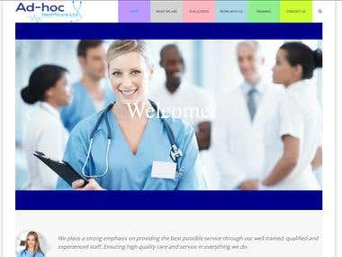 Nursing site (wordpress)