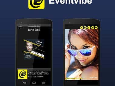 Eventvibe iPhone/Android App