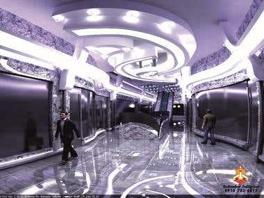 Interior Design of City Center market