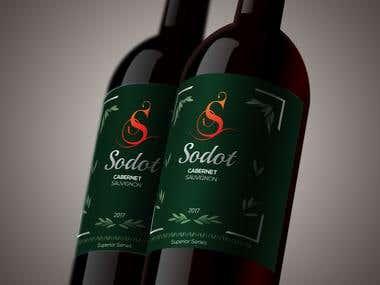 Wine Bottle design product packging
