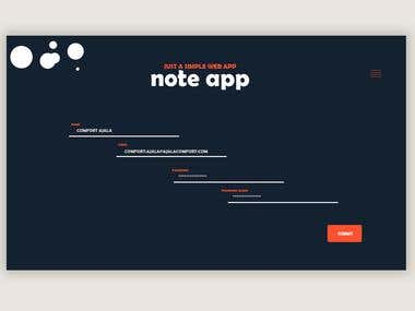 Ongoing Note Application