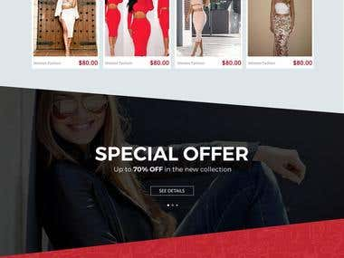 KissyK - Ecommerce Store Design