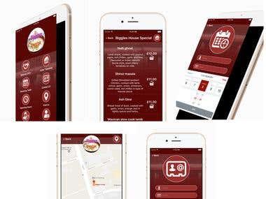 Biggles Lounge (Takeaway order App)